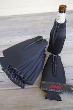 12 BLACK Blank Foam ZIPPER Longneck BOTTLE Holders Beer Bottle Coolers