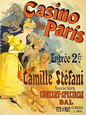 ADVERTISING THEATRE STAGE MUSICAL CASINO PARIS CAMILLE STEFANI POSTER LV1167