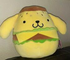 "New Kellytoy Squishmallow 8"" Sanrio Hello Kitty Pompompurin Dog hamburger burger"