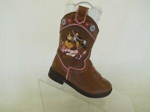 Spirit Dreamworks Wild and Free Brown Zip Cowboy Western Boots Toddler Size 7