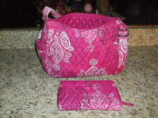 Vera Bradley On The Go Hobo Stamped Paisley& Turnlock Wallet~NWT~free shipping