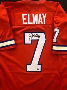 NFL Legend John Elway Signed Autographed Denver Broncos Jersey COA from Global