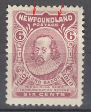 Newfoundland No. 92Ai Mint Hinged Very Fine WF Joined variety