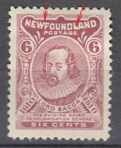 Newfoundland # 92Ai Mint Hinged Very Fine WF Joined variety