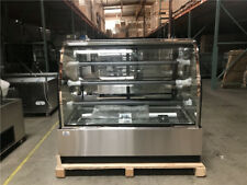 "Deli Case New 60"" Show Curved Glass Refrigerator Display Bakery Pastry Meat"