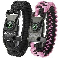 A2S Protection Paracord Bracelet K2-Peak - Survival Gear Kit with Embedded