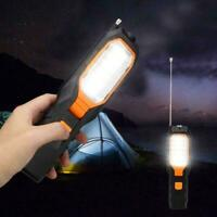 LED Work Light COB Car Garage Inspection Lamp Magnetic Rechargeable Torch E8Q7