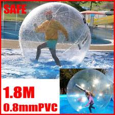 1.8M Water Walking Ball Inflatable Playing Ball Human Hamster PVC Ball Zippe