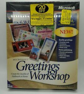 Microsoft Greetings Workshop Version 2 [PC CD-ROM, 1997] X03-22101 NEW SEALED