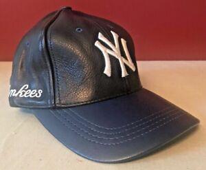 Vintage Logo Athletic NY Yankees Leather Hat NEW