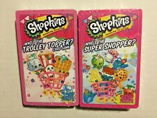 SHOPKINS Who's the Super Shopper? & Who's the Trolley Topper? Card Games