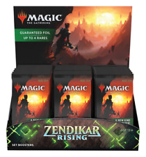 Zendikar Rising Set Booster Box - 30 Packs-Totalmente Nuevo Y Sellado De Fábrica! Magic The Gathering