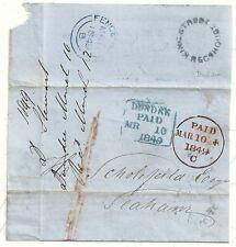 1849 Dundee wrapper a H scholefield a seaham UDC KING STREET recg casa locali