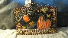 metal sign, harvest welcome, Fall time