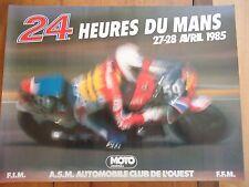 POSTER OFFICIEL ** 24 HEURES DU MANS 1985 MOTOS **  AFFICHE ACO MOTO LE