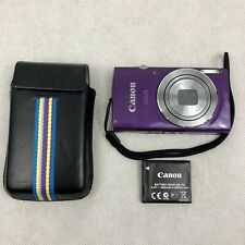 Canon IXUS 145 Purple 16MP 8x Zoom HD Movie Digital Camera No Charger or Cable