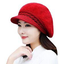 Premium Quality Soft and Warm Winter Woolen Cap for Women Girls Ladies