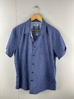 Maddox Men's Short Sleeved Button Up Shirt Size XL Blue