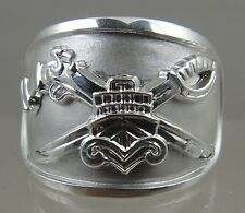 US NAVY Licensed SWCC Basic Ring solid .925 sterling silver size 11