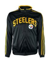 Pittsburgh Steelers Ron Style Embroidered Full Zip Track Jacket, NFL Black