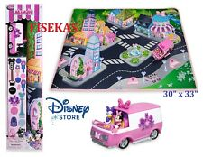Disney Store Minnie Mouse Daisy Playmat Van Vehicle Play Mat Road Set Cars NEW