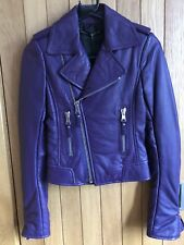 Balenciaga 2011 Eggplant Purple Leather Biker Jacket - Size 34, BNWT