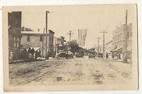RPPC Street Scene LINDSTROM MN Chisago County Real Photo Minnesota Postcard