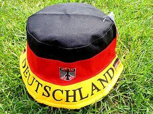 Deutschland Germany Sonnen-Hut Sunhat Hut + NEUWARE + WM EM + 100 % Baumwolle