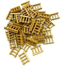 Lego Lot of 50 New Pearl Gold Fence 1 x 4 x 2 Spindled with 4 Studs Pieces