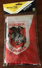 NRL ST GEORGE ILLAWARRA DRAGONS BANNER FLAG DOUBLE SIDED 132 CM X 20 CM B NEW