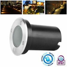 LED Bodenleuchte Bodeneinbaustrahler GU10 Rund Gartenleuchte ohne Leuchtmittel