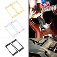 2Pcs/Set Metal Humbucker Pickup Mounting Rings Frame fits for Electric Guitar st