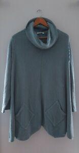 Margaret Winters women's medium cotton Stretch Knit Oversized Funky Pocket Top