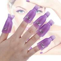 10X Plastic Nail Soak Off UV Gel Art Polish Remover Wrap Clip Cap Accessories