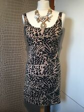 Animal Print Fully Lined Dress 10/14 Camel/black