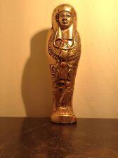 Rare Antique Ancient Egyptian Ushabti w scarab God Horus Water Gold 1570-1460BC