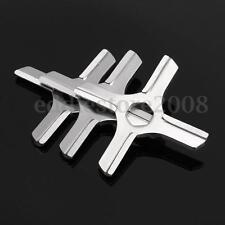 3Pcs #5 Steel Meat Grinder Mincer Blade Parts Set For Moulinex HV3/KRUPS F402