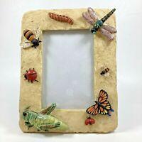 Summer Garden Insect 3D Resin Freestanding Portrait Oriented Photo Frame 3x5