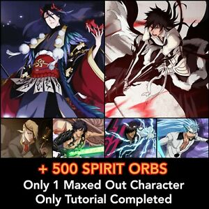 Bleach Brave Souls *100% FRESH* 5th Anniversary Ichigo Spirit Byakuya + 500 ORBS