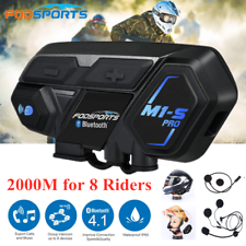 2000M  M1-S PRO Motorcycle Intercom Headset Helmet Interphone 8 Riders Motorbike