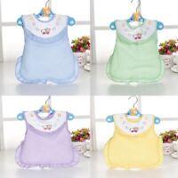 Baby Toddler Boys Girls Cotton Bibs Waterproof Kids Saliva Burp Apron