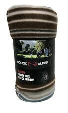 Olaton Alpine Nordic Fleece Throw Blanket Family Size 120cm x 150cm Gift Outdoor