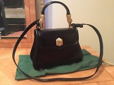 ICONIC COLLECTIBLE Barry Kieselstein-Cord Alligator TROPHY black leather Bag