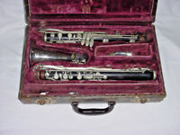 VINTAGE M A MALERNE ALTO CLARINET  PARIS FRANCE  GRENADILLA WOOD