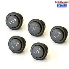 5x ON/OFF/ON 3 Position SPDT Round Rocker Switch 10A/125V 6A/250V