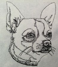 Completed Embroidery Chihuahua Dog