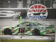 Kyle Busch signed 2019 #18 INTERSTATE BATTERIES *TEXAS VICTORY BOW* 8x10 Photo