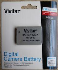 VIVITAR 1200 mAh DIGITAL CAMERA BATTERY PACK CANNON NB-5L NEW