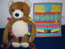Kids Teddy Bear Learning Backpack & Learning Board-Both New
