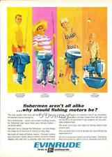 Vintage 1966 ad Evinrude Outboard Motors Sportwin Angler Lightwin  Cabin Art